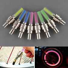 8x LED Reifen Ventilkappe Lampe Speichen licht Flash Für FahrradAutoMotorradTPI