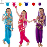 Kids Belly Dance Costume Set Oriental Indian Egypt Egyptian Dress Suit For Girls