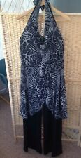 STAR JULIEN MACDONALD Black Grey Animal Print Flattering Catsuit AllInOne UK 16