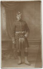 WW1 RP Postcard Named Gordon Highlander
