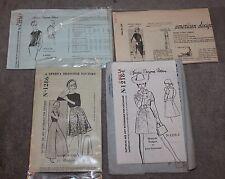 VINTAGE 1960'S PATTERNS LOT OF 4 SPADEA BRIGANCE/LARRY ALDRICH/JERRY SILVERMAN