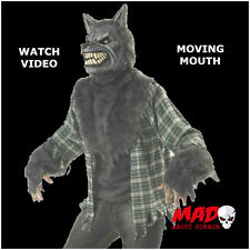 FULL MOON MADNESS Werewolf Costume Animotion Moving Mask Halloween Fancy Dress