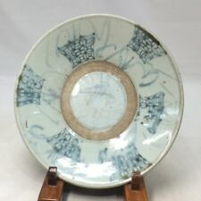 D749 Rare Southeast Asian old blue and white porcelain plate from Vietnam AN-NAN