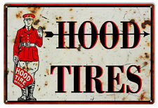 Distressed Looking Hood Tires Garage Shop Reproduction Sign 12x18