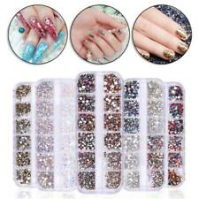 3D Nail Rhinestones Gems Crystal Beads Glitter Acrylic Nail UV Gel Decoration
