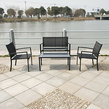 Outdoor Patio Sofa Set Sectional Furniture PE Wicker Rattan Deck W/Tea Table