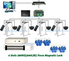 Motion Detection Sensor Exit PIR 4 door access control Computerized system Kits