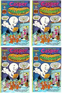 set of 4 CASPER Halloween Trick or Treat #1 in VF/NM Harvey Bronze Age Comics