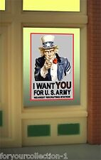 Uncle Sam I Want You Animated Neon Window Sign  #9005 MILLER ENGINEERING O/HO