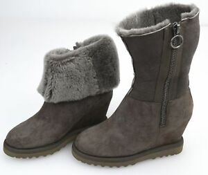 ASH WOMAN WINTER MID CALF BOOTS BOOTIES WITH WEDGE CODE YORKI FW14-M-105445-002