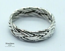 SilverNess Men's Jewellery Wrapped Wire Ring: 925 Sterling Silver