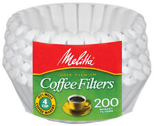 Melitta 4-6 Cup Jr. Basket Paper Coffee Filters White, 200 Count