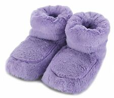 Intelex Lilac Cozy Plush Boots Heatable Microwavable Furry Warmer Lavender