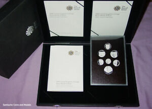 2008 ROYAL MINT SHIELD OF ARMS SILVER PROOF CASED SET COINS