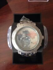 NEW Techno Master Mens Floating   White Diamond Watch