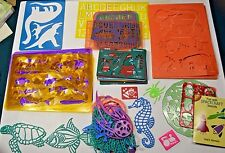 STENCILS Huge Lot Some tuperware