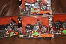1998  Series 3 Lot of 4 Maisto Harley Davidson