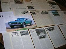 RELIANT SCIMITAR GT GTE GTC: Articles/Tests/Adverts etc 1968-1981  (21 pages)