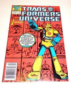 TRANSFORMERS UNIVERSE  #1 UNREAD NEW OLD STOCK HIGH GRADE 9.6-9.8  CPICS