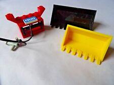 Lego 47508 & 4209 Negro Digger 9 DIENTES excavadora 7 Dientes Amarillo y Rojo Soporte de cadena