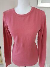 Caslon Women Sweater Sz Small Stretch Long sleeve Rose
