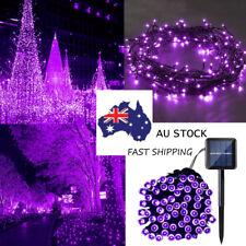 52M 500LED Waterproof Solar Purple String Lights Xmas Tree Garden Festival Decor