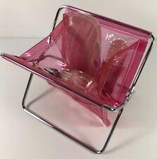 New Avon Pink Pvc Standing Collapsible Pedicure Nail Kit