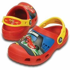 NWT Crocs Outdoor Shoes Disney Cars Lighting McQueen toddler 4 5 Authentic! Glow