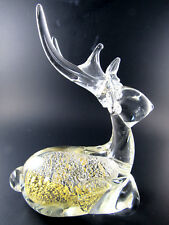 ART GLASS DEER FIGURINE PAPERWEIGHT (E16)