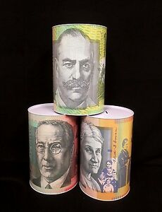 Jumbo Large Money Tin Box  Australian Money Note Design Souvenir 20x 30cm Random