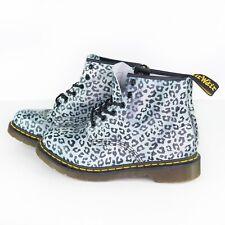 Dr Martens Doc 101 Leopard Print Ladies Eyelet Boots Women's Size 10
