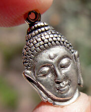 Vintage Sterling Silver Buddha Pendant Charm STAMPED Not Scrap Antique Buddhism