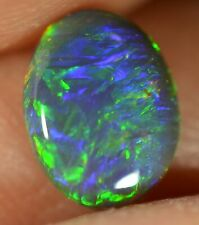 Black Opal Australian Natural Solid 0.60 ct VERY BRIGHT MULTI-COLOUR GEMSTONE