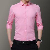 Slim Fit Tops Dress Shirts Luxury Long Sleeve Shirt Casual Fashion Men's Stylish
