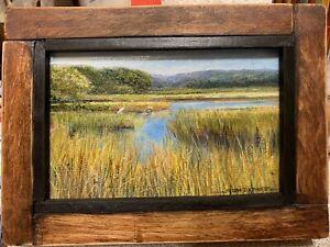 original painting on panel ACRYLIC MINIATURE-Edisto Marsh MAKE AN OFFER