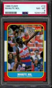 PSA 8 - 1986-87 Fleer # 12 Manute Bol RC Washington Bullets