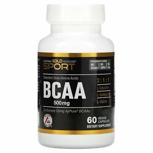BCAA, AjiPure® Branched Chain Amino Acids, 500 mg, 60 Veggie Caps