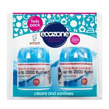 Ecozone Forever Flush 2000, Toilet Block, Twin Pack, Blue, Cleans and Sanitises,