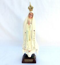 """11"""" OUR LADY OF FATIMA NOSSA SENHORA Virgin Marie statue with glass eyes"""