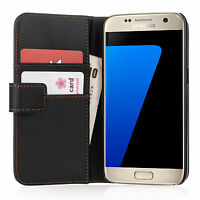 Yousave Accessories Samsung Galaxy S7 & S7 Edge PU Leather Wallet Case Cover