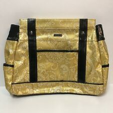 Miche Bag Allie Prima Size Purse Shell Only Mustard Yellow Floral Black Accents