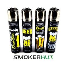 Clipper Lighter Drinker's Set - CHEERS TO BEER! - Rare Drink Collection - x4 pcs