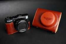 Vintage Genuine real Leather Full Camera Case bag cover for Canon G1X Mark II M2