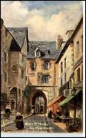 Tuck Oilette Pc ~1910 Mont St. Michel Main Street
