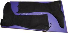$795 Stuart Weitzman Kneezie High Knee Boots Black Stretch Suede Booties  7.5