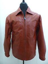 Wilsons Leather M Julian Men's Cognac Brown Bomber Motorcycle Jacket sz M Medium