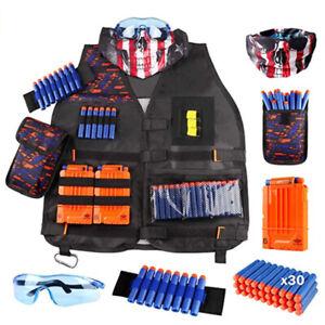 Mega Casa Kids Tactical Vest Kit for Foam Nerf Guns for Boys/Girls