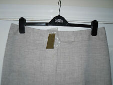 BNWT LADIES PLATINUM BY HOUSE OF FRASER BEIGE PREMIUM TROUSERS SIZE 16 COST £75