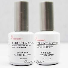 LeChat Perfect Match Nobility Varnish Base Gel + High Gloss Top Coat SET OF 2