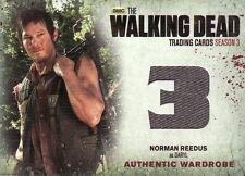 Walking Dead Season 3 Part 1 Norman Reedus as Daryl M1 Wardrobe Card